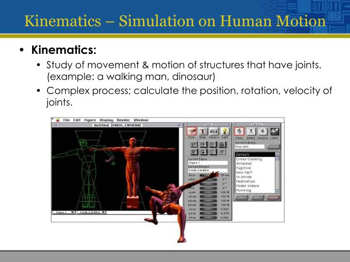 Kinematics – Simulation on Human Motion