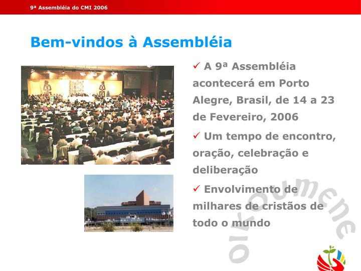9ª Assembléia do CMI 2006