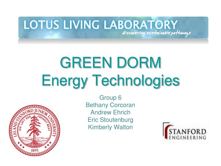 Green dorm energy technologies
