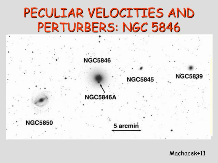 PECULIAR VELOCITIES AND PERTURBERS: NGC 5846