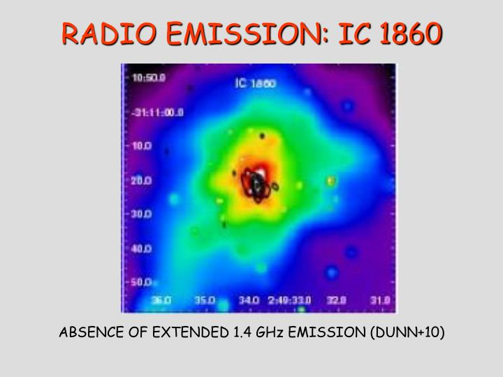 RADIO EMISSION: IC 1860