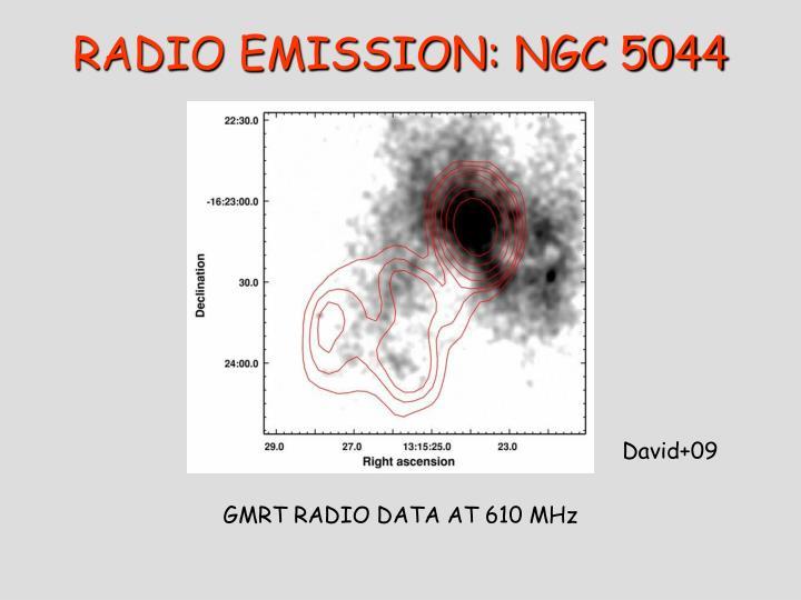 RADIO EMISSION: NGC 5044