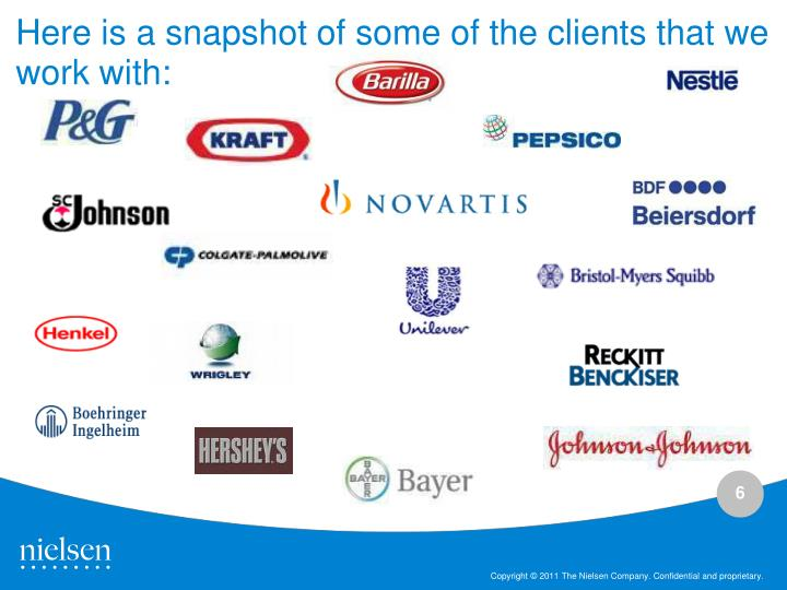 Here is a snapshot of some of the clients that we work with:
