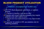blood product utilization11