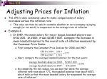 adjusting prices for inflation