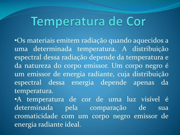 Temperatura de Cor