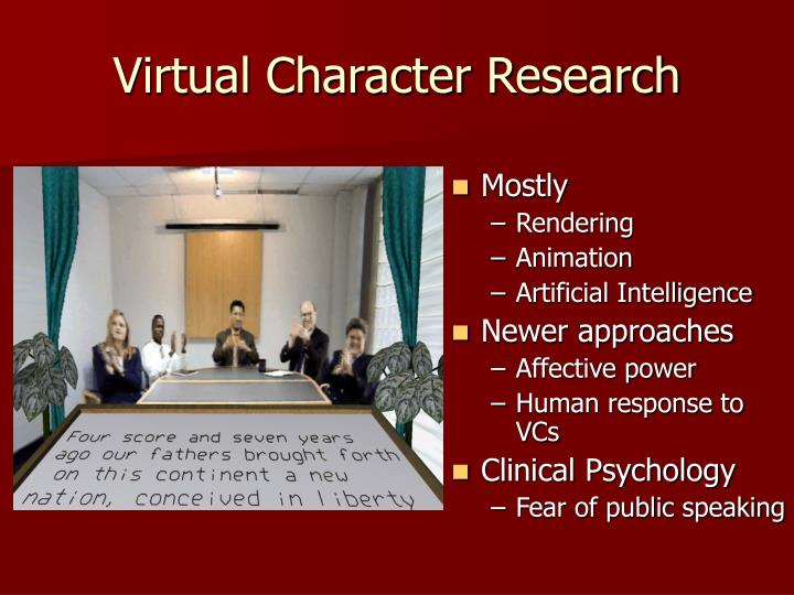 Virtual Character Research