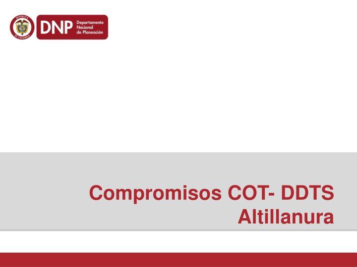 Compromisos COT- DDTS