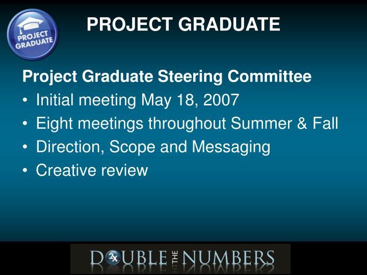 Project Graduate Steering Committee