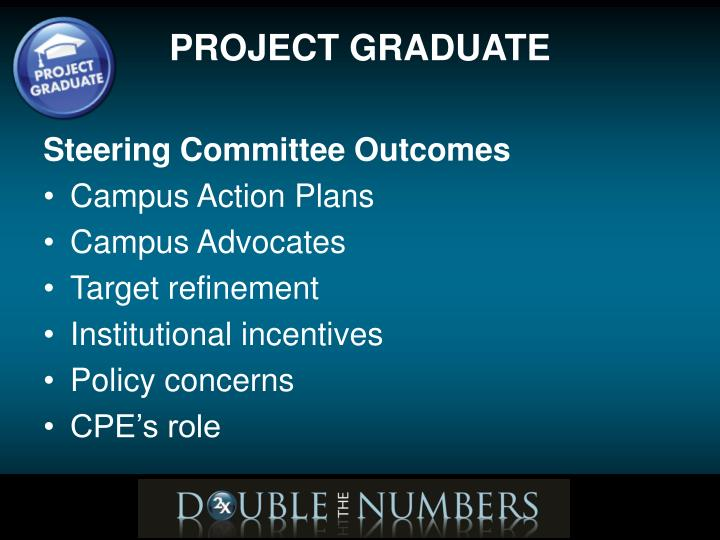 Steering Committee Outcomes