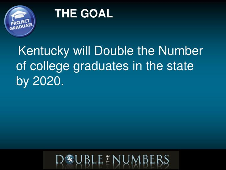 Kentucky will Double the Number of college graduates in the state