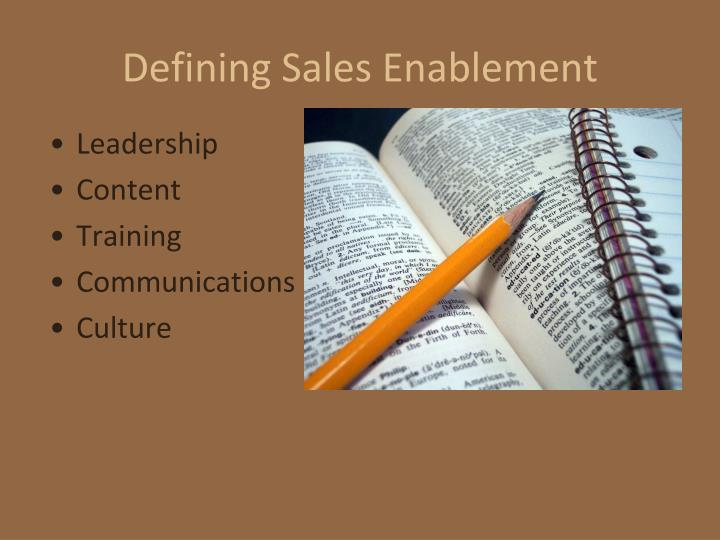 Defining Sales Enablement