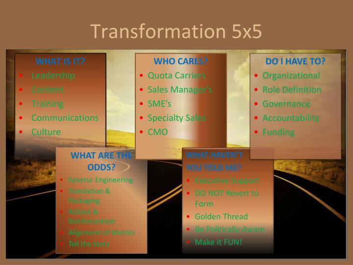 Transformation 5x5
