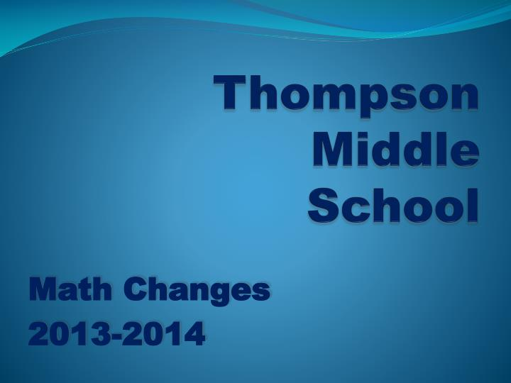Thompson middle school