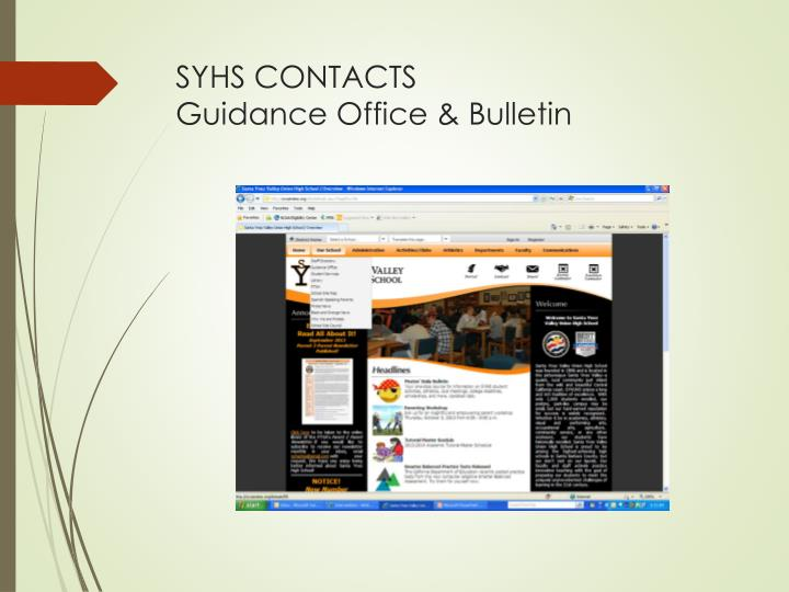 SYHS CONTACTS