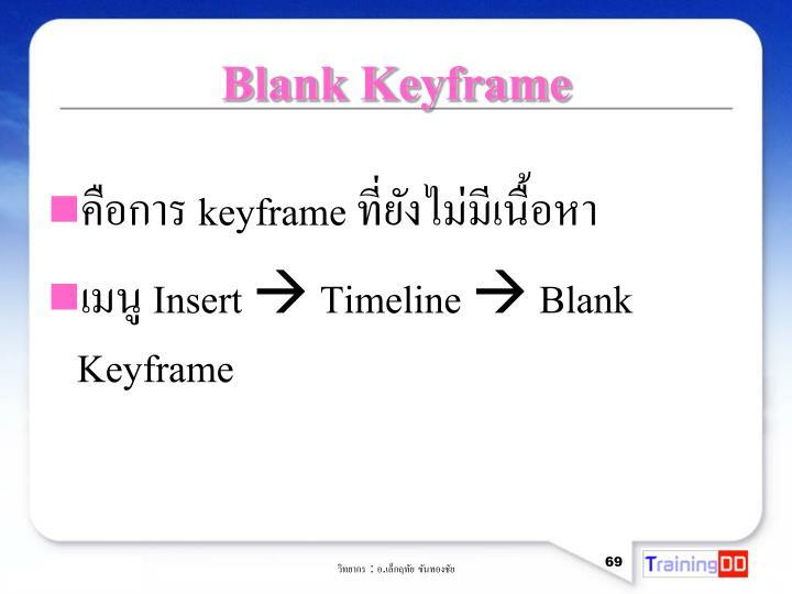 Blank Keyframe