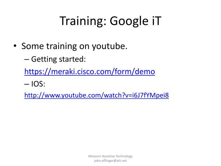 Training: Google iT