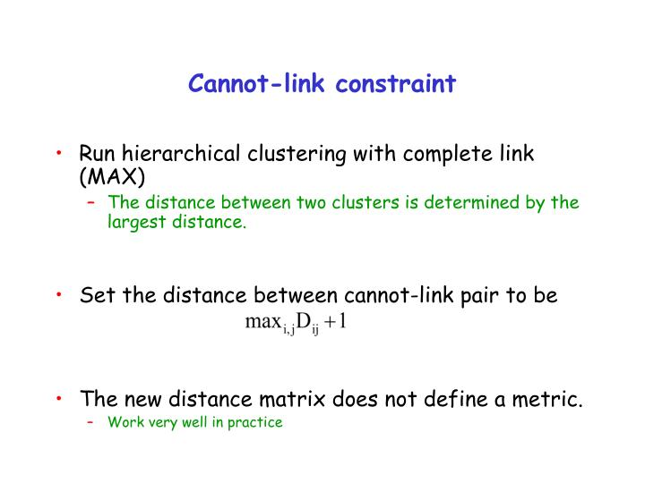 Cannot-link constraint