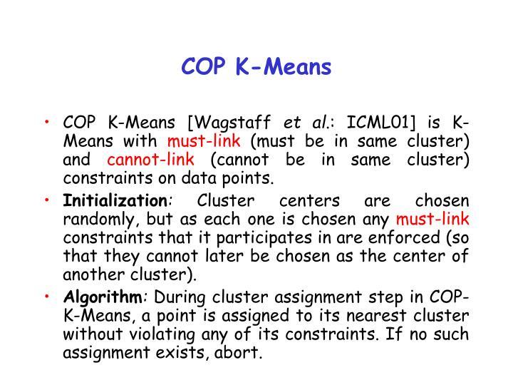 COP K-Means