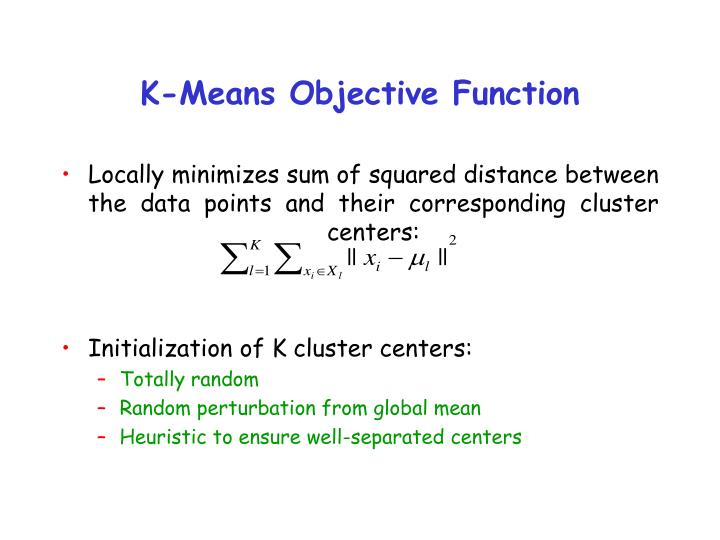K-Means Objective Function