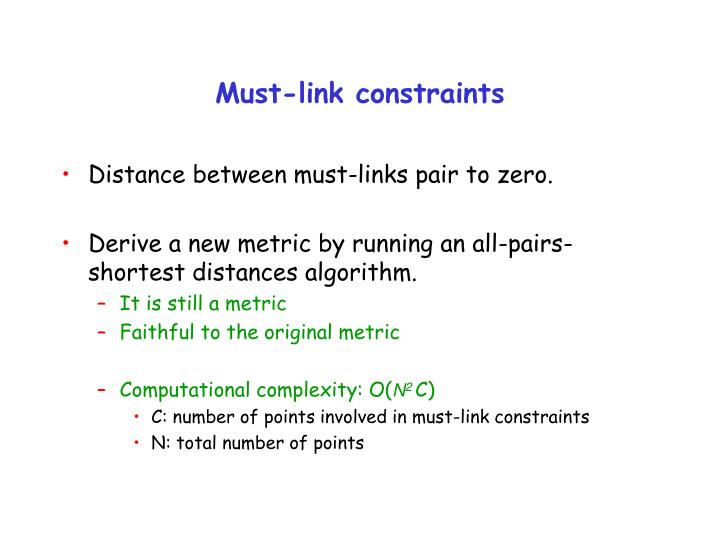 Must-link constraints