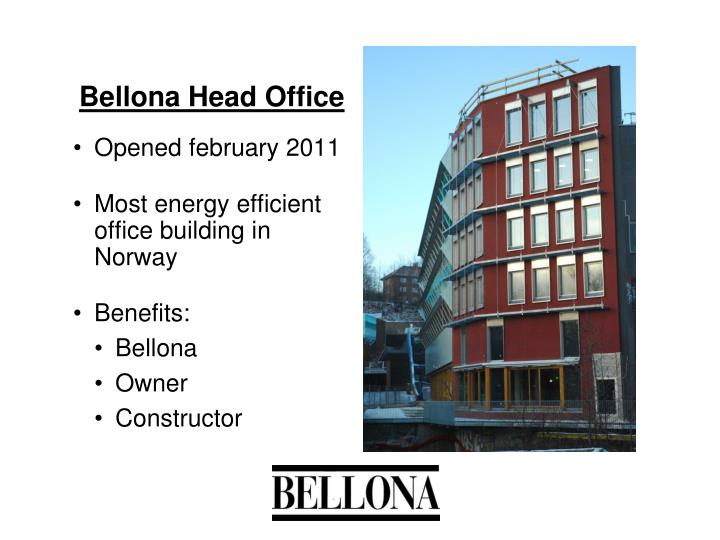 Bellona Head Office