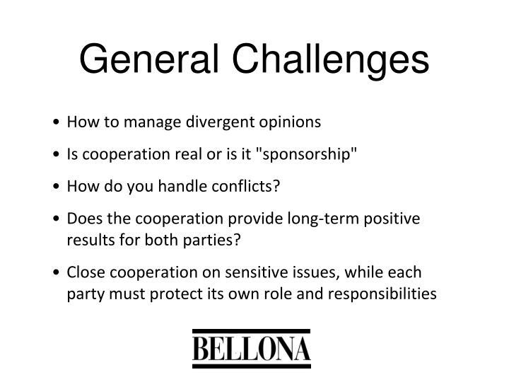 General Challenges