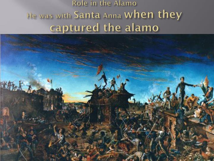Role in the Alamo