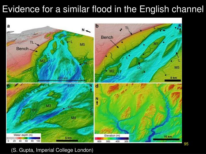 Evidence for a similar flood in the English channel