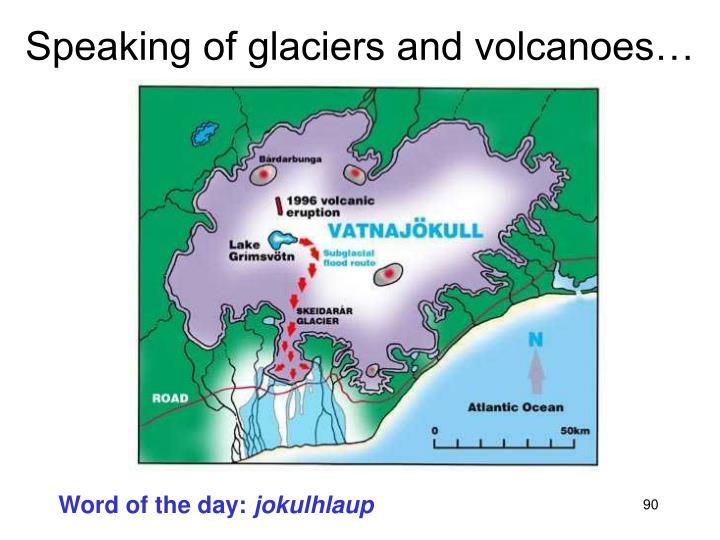 Speaking of glaciers and volcanoes…