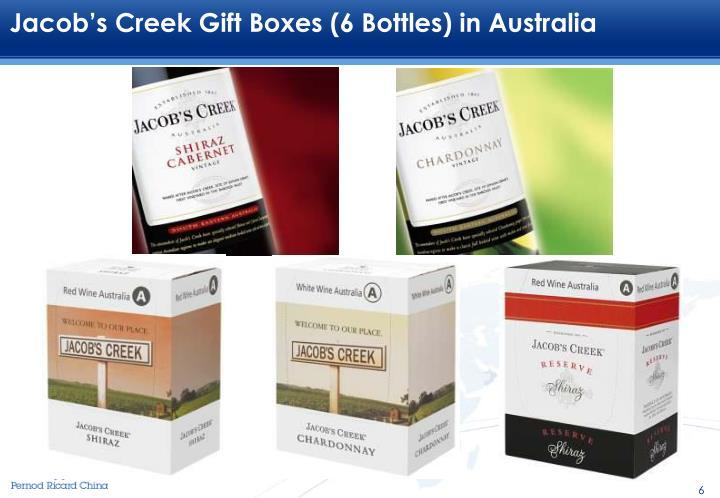 Jacob's Creek Gift Boxes (6 Bottles) in Australia