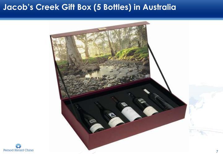Jacob's Creek Gift Box (5 Bottles) in Australia