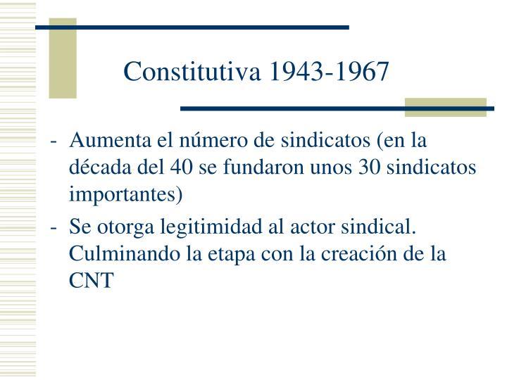 Constitutiva 1943-1967