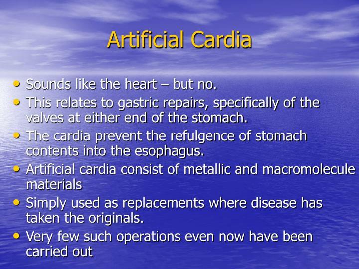 Artificial Cardia
