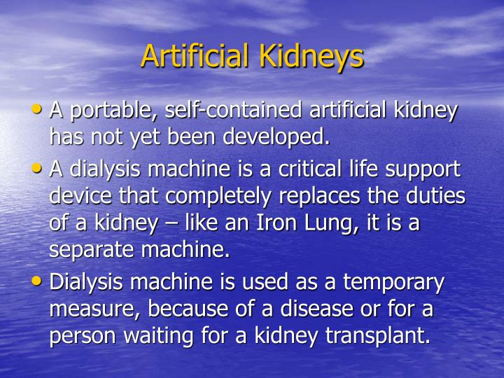 Artificial Kidneys
