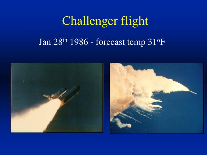 Challenger flight