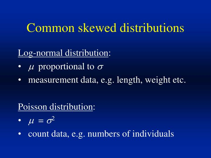Common skewed distributions