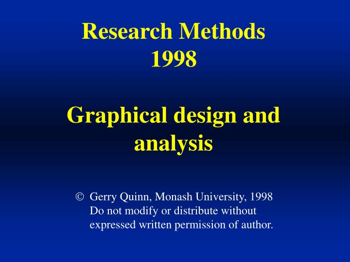 Research Methods 1998