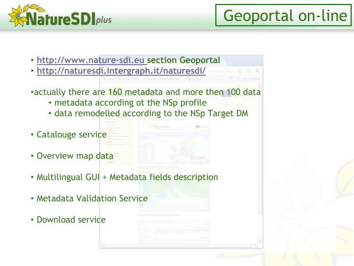 Geoportal on-line