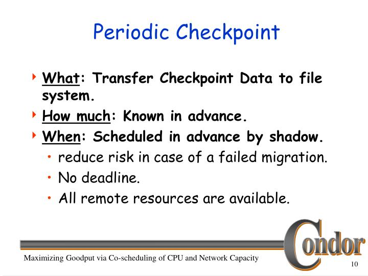 Periodic Checkpoint