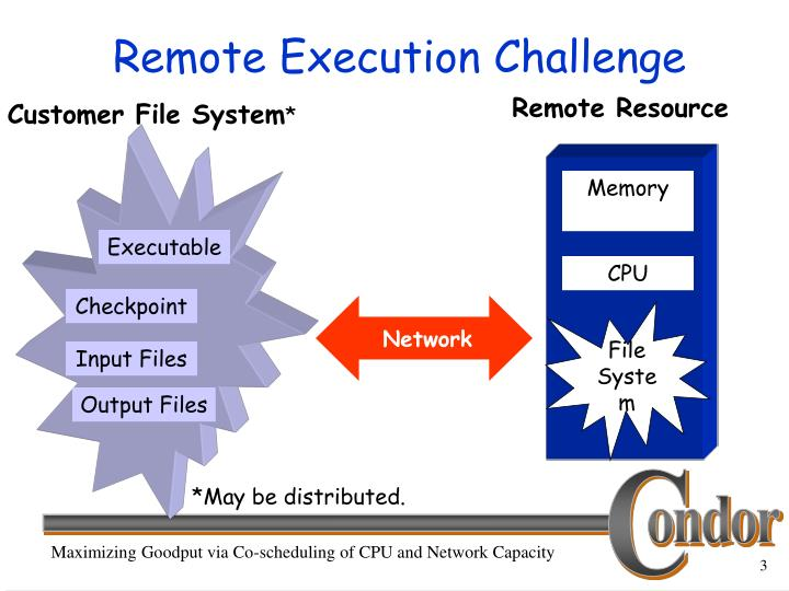 Remote execution challenge