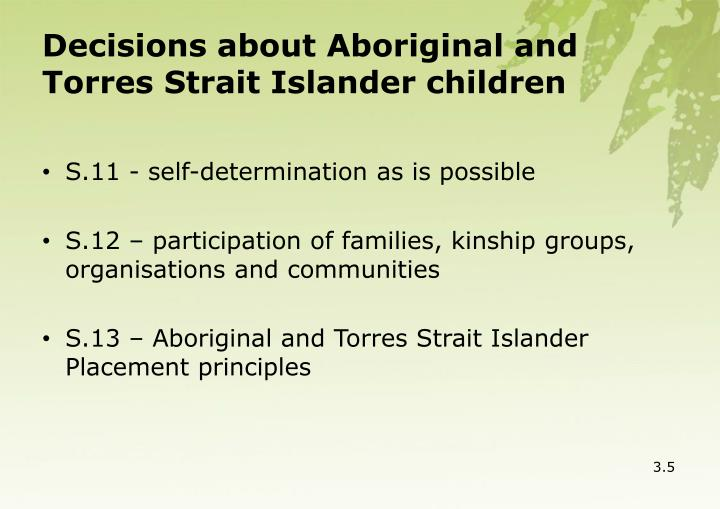 Decisions about Aboriginal and Torres Strait Islander children