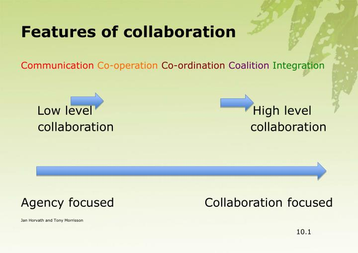 Features of collaboration