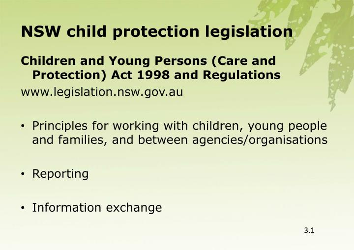 NSW child protection legislation