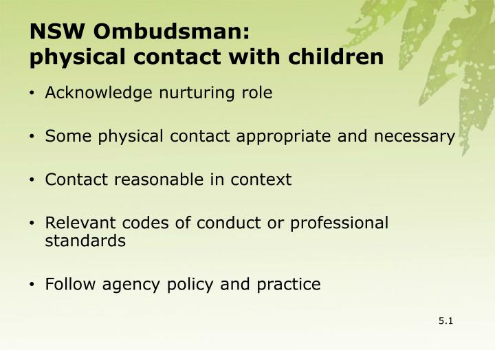 NSW Ombudsman: