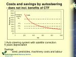 costs and savings by autosteering does not incl benefits of ctf