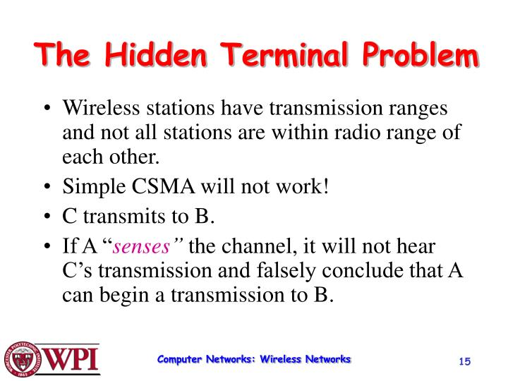 The Hidden Terminal Problem