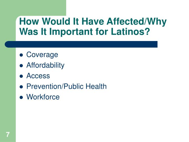 How Would It Have Affected/Why Was It Important for Latinos?