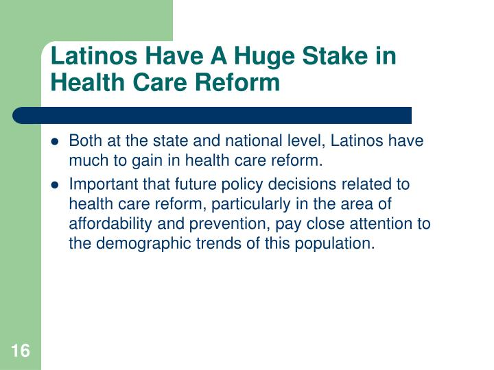 Latinos Have A Huge Stake in Health Care Reform