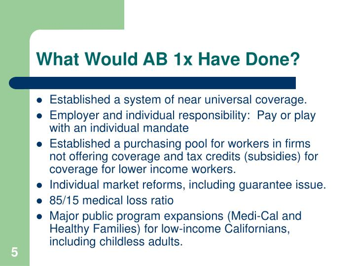 What Would AB 1x Have Done?